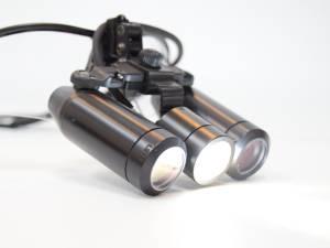 評判の超高照度LED+サージテル10倍拡大鏡(歯科用ルーペ)